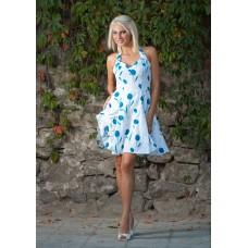 Дамска рокля със сини цветчета
